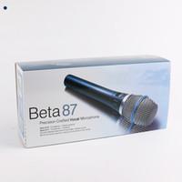 Beta 87 Profesyonel Mikrofono Beta87 Kablolu El Vokal Dinamik Karaoke Mikrofon Beta 87C Beta87A 87A MIC Mikrofonlar Ücretsiz DHL