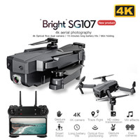 SG107 البسيطة بدون طيار مع 4K wifi fpv hd كاميرا quadcopter الضوئية تدفق rc درون إيماء التحكم الاطفال لعبة vs e58 e68 sg106