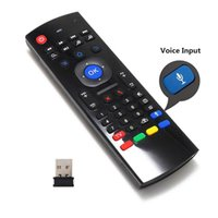 Wirless Mini Keyboard Air Mouse Remote Control 2.4G Sensing giroscópio Sensor MIC Combo MX3 Para MXQ M8S S905 Android TV BOX
