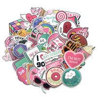 Carino Adesivi rosa Adesivo di tendenza estetico per bambini Ragazze adolescenti Womean Adatto per laptop Bottiglia per laptop Plan Bottle Plan Bottle Pad Chitarra Bike Bagagli