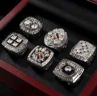 Fans'Collection 1974 1975 1978 1979 2005 2008 Steeler s Wolrd Champions-Team-Meisterschaft Ring Sport Souvenir Fan-Förderung-Geschenk Großhandel