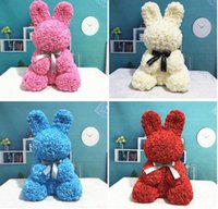 Artificial PE Rose Rabbit Foam Dolls Artificial Rose Flowers...