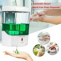 Duvar Sensör Sıvı Sabunluk Fotoselli Otomatik Sabunluk 700ml Sensör Dağıtıcı Banyo Aksesuarları CCA12199 30pcs Monteli