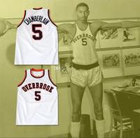 # 5 Wilt Chamberlain 팬더 팬더 고등학교 복고풍 클래식 농구 유니폼 망 스티치 사용자 지정 번호 및 이름 유니폼