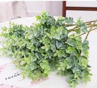 Simulated Plant Soft Plastic Eucalyptus Wedding Home Decorations Simulated Flowers and Green Plants Bonsai 30pcs/lot WL002