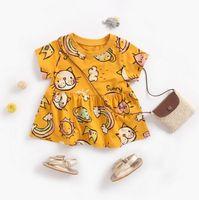 Babykleidung prinzessin kleid kurzarm tiere katzendruck lolita kleid sommermädchen cothing hohe qualität