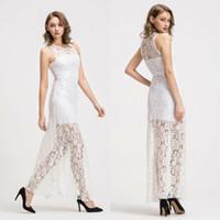 2019 mujeres atractivas ver-a través de malla vestido de Midi Maxi Sheer vestido de tul falda larga de encaje