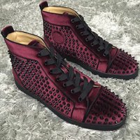 Women' s Red Bottom Spikes Sneakers Shoes For Men Luxury...