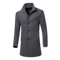 XIU LUO 2019 Autumn Men Winter Korean Men Overcoat Warm Tren...