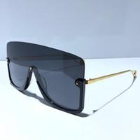Новые модные дизайнерские солнцезащитные очки 0540 связного объектив большого размер половина кадра с маленькой звездой авангардным 0540S качества популярного выпученного топа