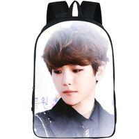 بايك هيون ظهره EXO K ماما اليوم حزمة البوب ستار حقيبة مدرسية الترفيه packsack الصورة الظهر الرياضة المدرسية في الهواء الطلق daypack