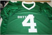 Rare Michigan State Spartans grün Plaxico Burress # 4 genähtes RETRO Voll Stickerei Jersey Größe S-4XL oder benutzerdefinierten beliebigen Namen oder Nummer Jersey
