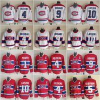 Hockey 10 Guy Lafleur maglie Uomini Montreal Canadiens 9 Maurice Richard 1 Jacques Plante 4 Jean Beliveau 5 Bernie Geoffrion Vintage Classic