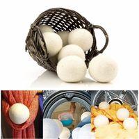 Pratik Çamaşır Temizlik Topu Yeniden kullanılabilir Doğal Organik Çamaşır Yumuşatıcı Topu Premium Organik Yün Kurutucu Toplar 6CM