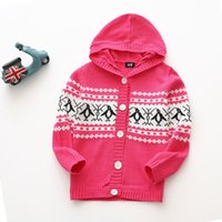 2019 chlidren chandail manteau doux bébé fille cardigan chaud à capuche en tricot veste conception mode enfants vêtements de printemps confortables