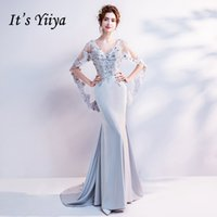 It' s Yiiya V- Neck Luxury Evening Dresses Sexy Backless ...