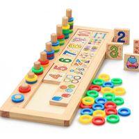Çocuk Bebek Ahşap Bulmacalar Montessori Malzemeleri Öğrenme Kurulu Sayıları Numaraları Eşleşen Erken Matematik Eğitim Oyuncakları Toptan
