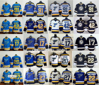Hóquei clássico de inverno 91 Vladimir Tarasenko Jerseys St. Louis Blues 17 Jaden Schwartz 22 Kevin Shattenkirk 30 Martin Brodeur Azul Branco