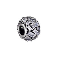 Perlen für Schmuck Graviert Eleganz Charm freie CZ Passend DIY Silber Schlange-Kettenarmbänder Frau Fashion Jewelry Beads