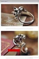 Anelli per le donne mens anelli d'oro per Gattino del gatto animale di cristallo argento placcato oro Anelli Lega