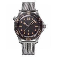 Neue Herrenuhr Taucher 300m 007 Edition Master Keine Zeit zum Matrize mechanische Bewegung Männer Uhren Stahlband Sport Armbanduhren