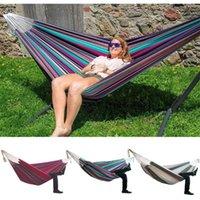 Tipos Multi / silla colgante al aire libre Confort Durabilidad patio interior de rayas Silla grande hamacas sin estante para el adulto y niño