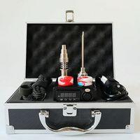 티타늄 10mm의 16mm에서 20mm 코일 히터 Enail 온도 컨트롤러 전체 상자 키트 전기 살짝 적셔 손톱 BOX06 휴대용 E 네일