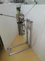 Envío libre 5L Comercial 700ML Vertical Manual churrera churros Máquina Wht 5 moldes
