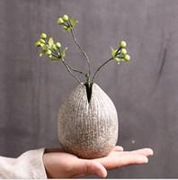Trockene Blume grobe Keramik Blume Tauscher mit der Keramik kreativer manueller Desktop-Innenausstattung nach Hause hydroponische Vase zen Wiederherstellung