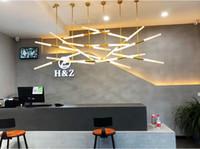 Kreative Goldkristallwaage Pendelleuchte 220V LED Blase Hängelampe für Hotel Restaurant Büro Innenbeleuchtung