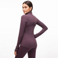 طويل الأكمام مصمم القمصان النساء اليوغا رياضة ضغط الجوارب المرأة الرياضية ارتداء للياقة البدنية اليوغا التدريب سستة سترة