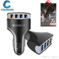 Cyberstore QC 3.0 Cell Phone carregador de carro Porto 4 USB Fast Charge Adaptador Inteligente Carregador 12V 3.1A para o iPhone Samsung Android