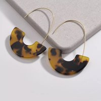 Mix Colors Gold Plated Resin Stud Earrings For Women Multi C...