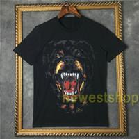 2020 verão quente mens moda camiseta de manga curta em 3D Rottweiler impressão camisetas designer de roupa ocasional do tshirt camiseta de algodão encabeça tee