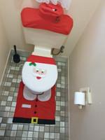 Рождественские украшения для дома ванная комната туалет крышка сиденья набор бумаги ковер Натал рождественские украшения Санта-Клаус Новый год декор Навидад