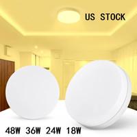 Lámparas de panel LED 4pcs 48W 36W 24W 18W Techo redondo Lámpara de luz Lámpara de luz Lámparas de superficie cálida blanca
