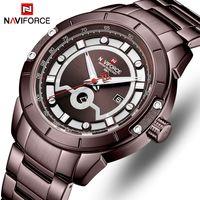 Naviforce Mens Часы Лучшие Бренд Мода Спортивные Часы Мужчины Полная сталь Водонепроницаемый Кварцевый Наручный Часы Для Мужской Часы Relogio Masculino