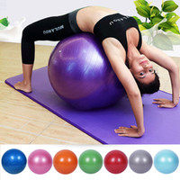 f134d0a2d72aa Azul Rosa Roxo Prata 65 cm de Diâmetro PVC Elasctic Rodada Bola Yoga  Treinamento de Equilíbrio