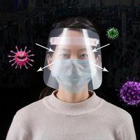 1PC de protecção ajustável Anti Gota Dust-proof da tampa Máscara Facial Visor Escudo Gota Windproof face Escudo lavável
