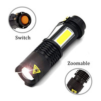 Portable LED Flashlight Q5 + COB Mini Black 2000LM Waterproof...