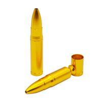 1pc Medio bala del metal de aluminio pipa Shisha cachimba Grinder regalo de batir del tabaco CigarettePipe