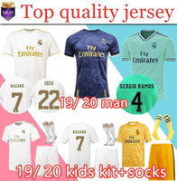 2019 20 Real Madrid Soccer Jersey HAZARD home away maglia da calcio per adulti ASENSIO ISCO MARCELO madrid 19 20 kit per bambini divise da calcio