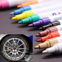 12X الملونة قلم مقاوم للماء سيارة الاطارات مداس الإطار CD معدن الدائم الطلاء علامات الكتابة على الجدران الزيتي ماركر القلم marcador caneta القرطاسية