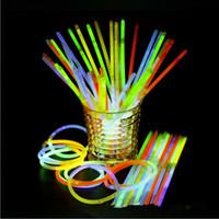 Glow Stick Bilezik Salkım Parti Işık Çubuk Wand Yanıp sönen Işık Vokal Konser Flaş Çubuk Yenilik Oyuncak Festivali Parti Sahne Dekor EZYQ309
