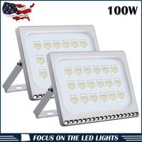 Scheinwerfer Außenbeleuchtung für Hausgarten 2 stücke Slim 100W LED-Flutlicht Sicherheitsleuchten 110V cool weiß
