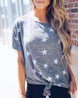 새로운 유행 캐주얼 여성 스타는 짧은 소매 느슨한 여성 T 셔츠 한 조각 스웨터 라운드 넥 탑 인쇄 옷