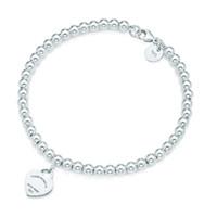 100% 925 tag Pendentif argent bracelets T Véritable amour de charme Coeur Perle Bracelet hommes d'origine Femme Bijoux personnalité cadeau
