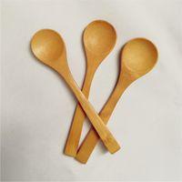 50pcs de madeira de bambu colheres de mel Colher Colheres do bebê Mini Colheres da cozinha Ferramentas Acessórios