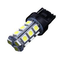 10 STÜCKE T20 7440 7443 Weiß 18-SMD 5050 Rückwärtsbremse / Stopp / Drehen Schwanz Back Up LED Glühbirne