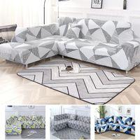 Color gris Sofá Sofá seccional cubierta elástica cubierta pida 2 unidades Sofá Si L-estilo seccionales esquina Capa de